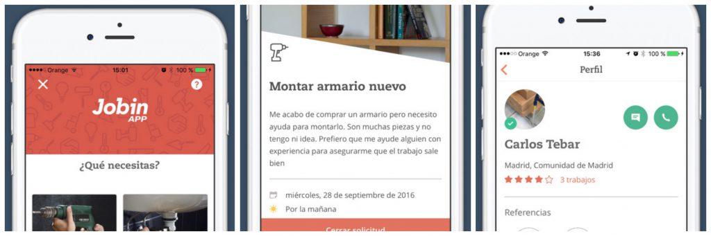 Jobin Pro, aplicacion, profesionales, averias, jobin app