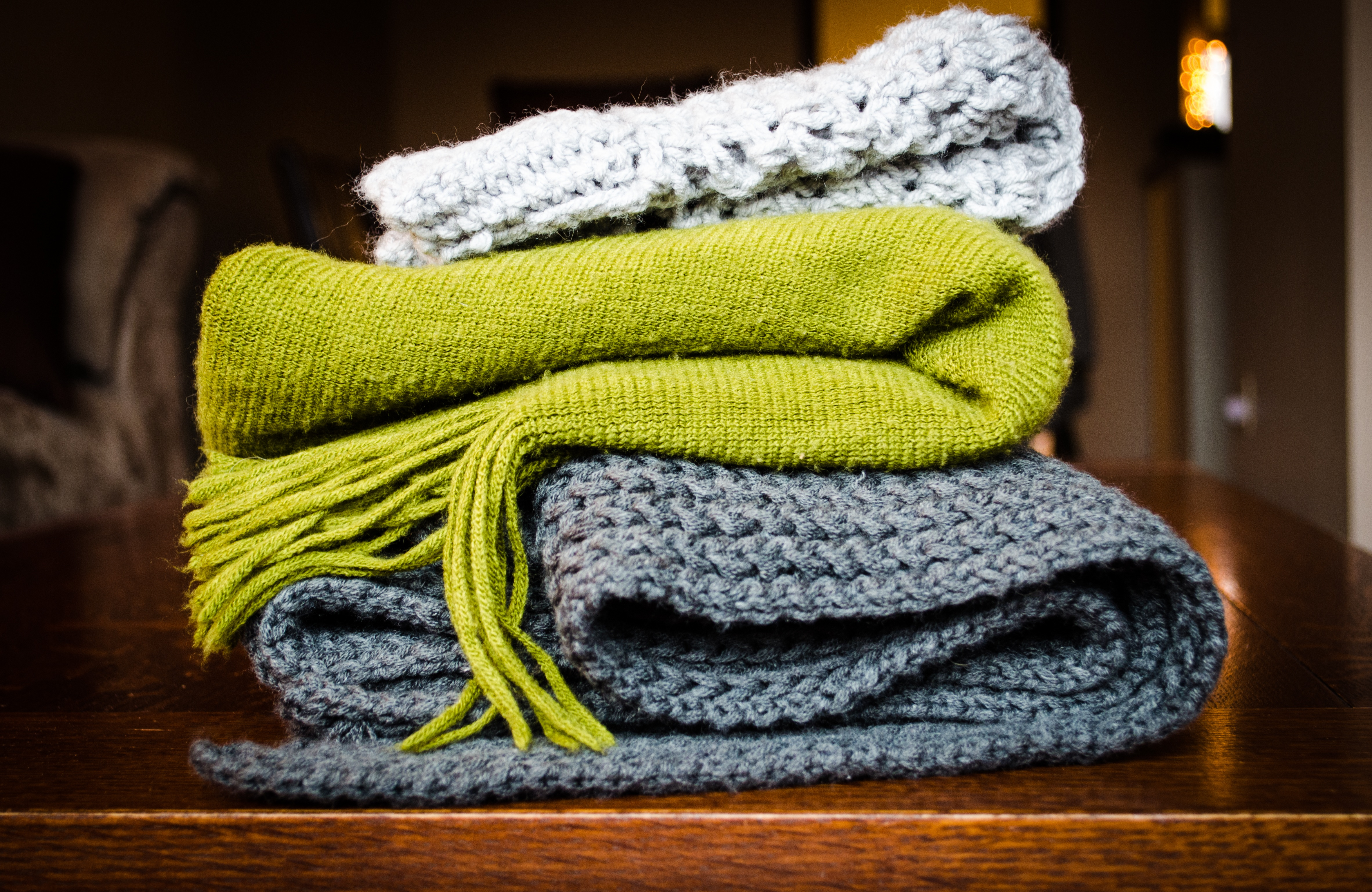 mantas para el frio y como decoración