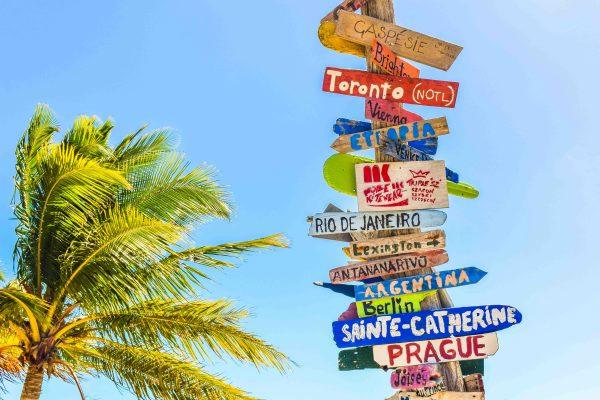 señales decoración tropical