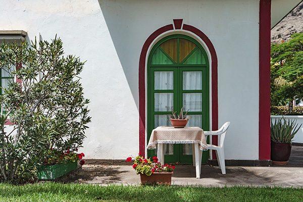 terraza jardín verano
