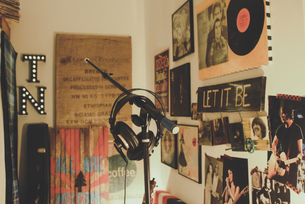decoración con fotos estudio música