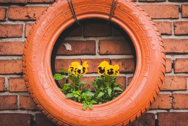 reciclar en casa neumáticos