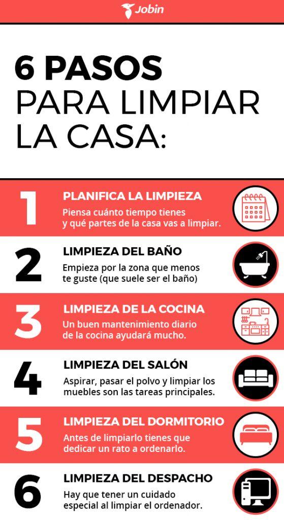 6 pasos para limpiar la casa