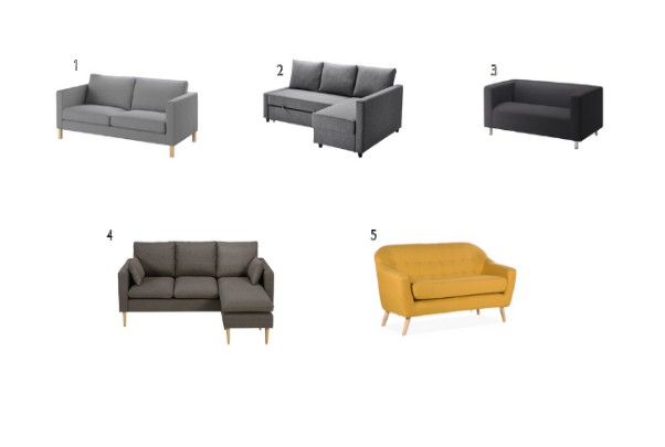 básicos para tu primer piso sofá